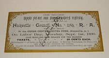 1890 R.A. Hicksville Council No 1159 Grand Picnic & Summer Nghts Festival Ticket