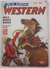 BLUE RIBBON WESTERN PULP MAG OCT 1949 ALLAN K ECHOLS WALT BETHEL WARD RAYMOND