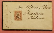 1860S RARITY 9 DPO 1868-1869 BECKS STATION IN MANUSCRIPT CANCEL MOURNING