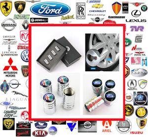 Deluxe Chrome Wheel Valve Caps in Presentation Gift Box. Most Makes & Models.