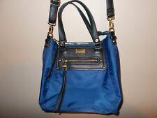 Steve Madden Shoulder Bag or Messenger Handbag Solid Blue with Black Trim