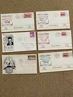 1947 US Air Mail Helicopter Service First Flight California & 1948 Envelopes