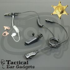 HAWK Lapel Mic Earpiece Kenwood TK5210 TK2180 TK3180 NX200 NX300 Police Radio