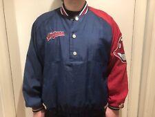 Cleveland Indians Starter Baseball Pull Over Jacket Blue/Red VINTAGE RARE Large