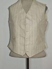 Victorian / Edwardian Mans Cotton Brocade Vest c- 36