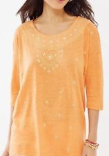 J Jill Long Moroccan Tunic Top Boho Linen Scoop Neck Size XL $79 NEW