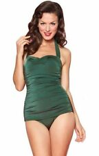 Esther Williams Pin Up One Piece Swimsuit in Emerald Green Size 6 Made in USA