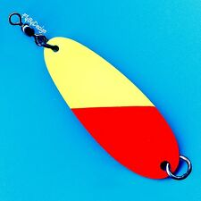 Luhr-Jensen LG Johnson Chartreuse/Fire Red Size 5 Salmon Fishing Trolling Spoon