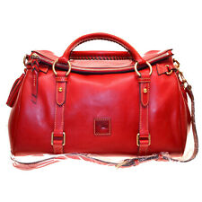 Dooney & Bourke NWT Med Florentine RED Leather Satchel Purse DAZZLING BAG