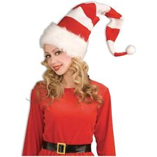 Red & White Striped Santa Hat Costume Accessory Adult Christmas