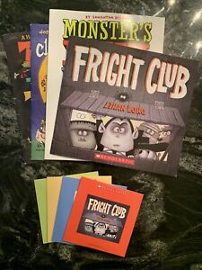 Lot of 4 Elementary Listening Center Books and CDs Scholastic Halloween