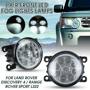 2x Front LED Fog Light Lamps For Land Rover Discovery 4 & Range Rover Sport L322