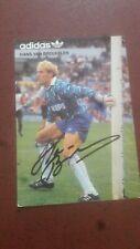Kaart / card Hans van Breukelen (PSV) met echte handtekening 2