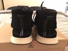 Ransom Alta Mid Visvim Style Fringe Collar Moccasins Sneaker Black / Bone US8