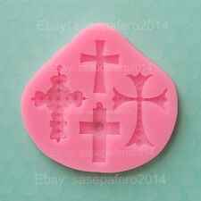 Cross Baptism, Communion, Confirmation silicone mold for fondant, resin, clay
