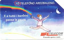 22-Scheda telefonica 113 Telefono Arcobaleno scad.12/2000 lire 5.000
