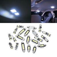21Pcs/Set 12V White Interior LED Light Bulb Kit Universal Direct Replacement