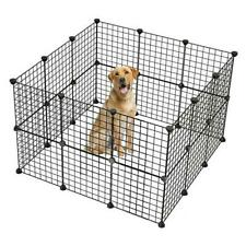 DIY Pet Playpen Metal Wire Fence 32-Panel Small Animals Cage Metal Wire Yard