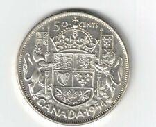 CANADA 1954 50 CENTS HALF DOLLAR QUEEN ELIZABETH II .800 SILVER COIN
