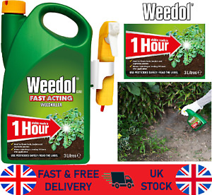 Weedkiller Fast Acting 3L Ready To Use Concentrate Weedol weeds killer