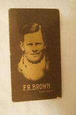 1930's Allens Steam Rollers - Vintage Cricket Card - F.R. Brown - Surrey.