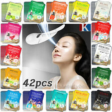 42 PCS Korean Essence Facial Mask Sheets Moisture Face Mask Pack Skin Care Lots