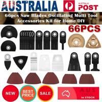 66X Oscillating Multi Tool Blades Kit For Fein Milwaukee Makita Bosch Multitool*