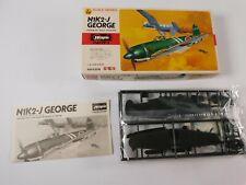 Vintage  Hasegawa 1/72  N1K2-J George A-29 Airplane Model Kit  #JS-125