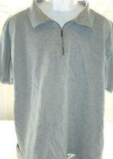 Great Land Mens 1/4 Zip Short Sleeve XL Gray Casual Shirt T11 Free Shipping