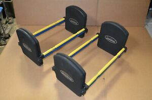 2 Pair PowerBlock Pro EXP Stage 2 Expansion Kit (50-70lbs) Set of 2 Yellow Blue