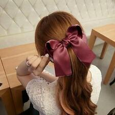 Fashion Women Girls Cute Large Big Satin Hair Hair Clip Boutique Ribbon Bow