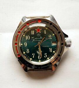 Vostok russische Armbanduhr Komandirskie  Amphibia Diver Taucheruhr Automatik