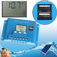 12V/24V Auto Solar Panel Charge Controller Battery Regulator 10A/20A/30A USB D