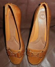Nurture Starling Leather Flats COMFORT SHOES 6M  Brown with rubber soles EUC