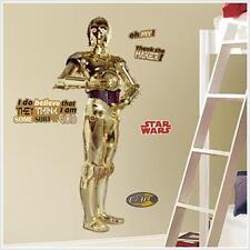 Star Wars. C-3PO. Apliques de Pared Pegatina Gigante. artículo oficial de casi 5ft de alto.