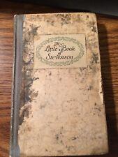 Vintage 1924 MY LITTLE BOOK OF STEVENSON Book