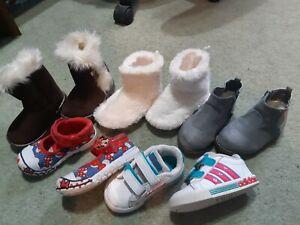 Infant Baby Girls Shoes Bundle Size 4 & 5 UK