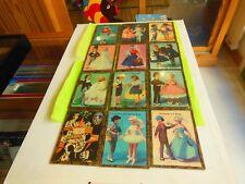 Lot de 11 cartes postales encadreés YVON sur theme des poupées PEYNET
