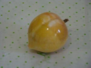 Alabaster Stone Peach Carved Stone Peach Nice Color See Photos