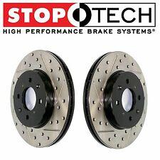 Rear Set Pair StopTech Drilled & Slotted Brake Rotors for Subaru Impreza WRX