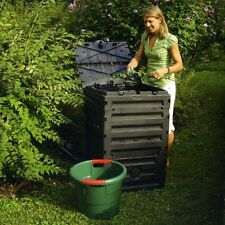 Exaco Eco Master 450 Recycled Plastic 120-gal. Compost Bin, Black