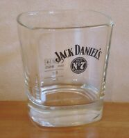 Jack Daniel's Old No 7 Brand Large Square Whisky Glass Pub Home Bar Whiskey