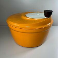 VINTAGE Retro 1970's Moulinex Orange Salad Spinner Made in France Kitchenalia