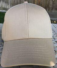 DPC Dorfman Pacific Fitted Ball Cap L 59cm 7 3/8 baseball Khaki 100% Cotton