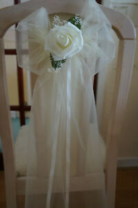 10 X Wedding Pew Ends / Chair Ends