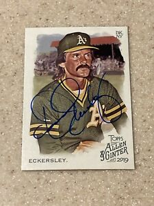 2019 Allen and Ginter signed Dennis Eckersley