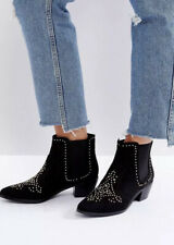 New Look Studded Western Ankle Boots, Wide Fit, Size 5, Brand New With Label