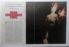 1998 Magazine Short Story 'Burning Man' by Edward Falco w/ Phil Hale Art