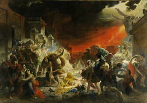 Karl Bryullov The Last Day of Pompeii Poster Reproduction Giclee Canvas Print