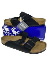 Birkenstock Arizona Men's Size 13 (EU46)Reg/Sftbd Black Suede Sandals KB-2165
